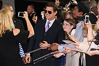 "Tom Cruise arriving for the ""Mission: Impossible - Fallout"" premiere at the BFI IMAX South Bank, London, UK. <br /> 13 July  2018<br /> Picture: Steve Vas/Featureflash/SilverHub 0208 004 5359 sales@silverhubmedia.com"