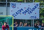 DEN HAAG -  spandoek  tijdens  de eerste Play out wedstrijd hoofdklasse heren ,  HDM-HCKZ (1-2) . COPYRIGHT KOEN SUYK