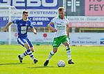 2018-08-12 / voetbal / seizoen 2018 - 2019 / Crocky Cup / Dessel Sport - Diegem / Kevin Janssens (r) (Dessel Sport) heeft controle over de bal.  Achter hem zien we Maxim Spaey (Diegem)