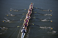 """REDWOOD SHORES, CA - April 29, 2017: Cal competes against Stanford in the """"Big Row."""""""