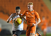 04/12/2018 FA Youth Cup 3rd Round Blackpool v Derby County<br /> <br /> Owen Watkinson challenge