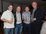 Terry O'hagan celebrating his 50th birthday in Brú with friends Declan O'Connor, Pat Sheridan and Jimmy Nannery. Photo:Colin Bell/pressphotos.ie