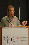 "September 21, 2011  (Washington, DC)  Delegate Eleanor Holmes Norton (DC) speaks at a breakout session of the 41st Annual Legislative Conference of the Congressional Black Caucus Foundation.  The theme of the session was ""Black Power and the 2010 Census: Changing Faces and Changing Places in Urban Communities""  (Photo by Don Baxter/Media Images International)"
