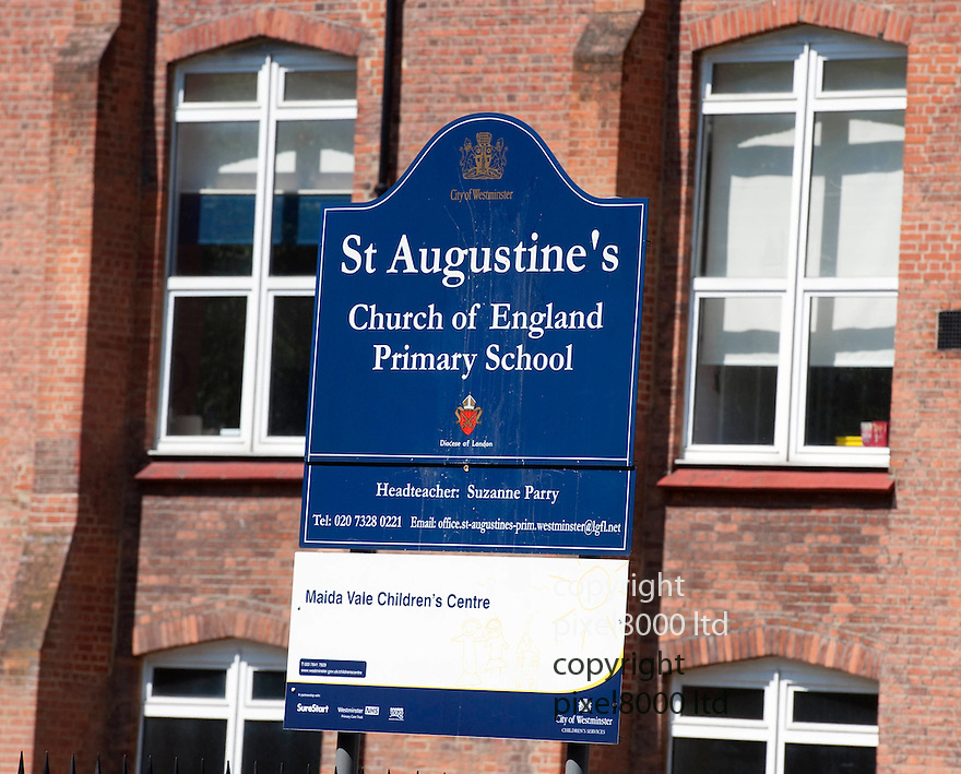 Bradley Wiggins' childhood school in Kilburn, North West London..St Augustine's Church of England where his mother still works as a secretary.......Picture by Gavin Rodgers/ Pixel 8000 ..07917221968
