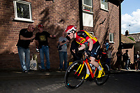 Picture by Alex Whitehead/SWpix.com - 14/05/2017 - Cycling - 2017 HSBC UK   Spring Cup Road Series - Lincoln Grand Prix - Raleigh GAC's x climbs Michaelgate cobbles.