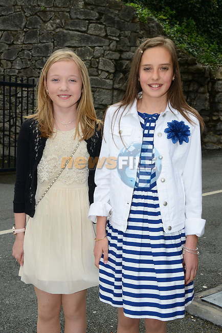 10/05/2015 – Saint Mary's Confirmation – Kerrie McGowan and Alana Bowe. Picture: www.newsfile.ie