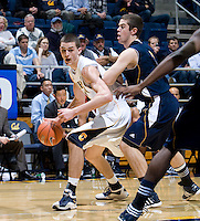 David Kravish of California in action during the game against UC Irvine at Haas Pavilion in Berkeley, California on November 11th, 2011.  California defeated UC Irvine, 77-56.