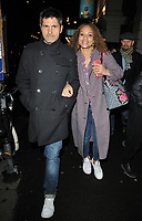 Jason Milligan and Angela Griffin at the &quot;Home, I'm Darling&quot; press night, Duke of York's Theatre, St Martin's Lane, London, England, UK, on Tuesday 05th February 2019.<br /> CAP/CAN<br /> &copy;CAN/Capital Pictures