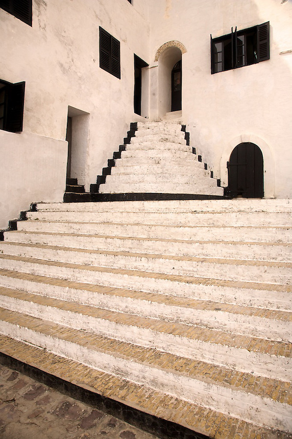 Established in 1482 as a trading post, St. Georges Castle in Elmina, Ghana, became a major center  for the slavetrade. It is now a World Heritage site..Photograph by Peter E. Randall