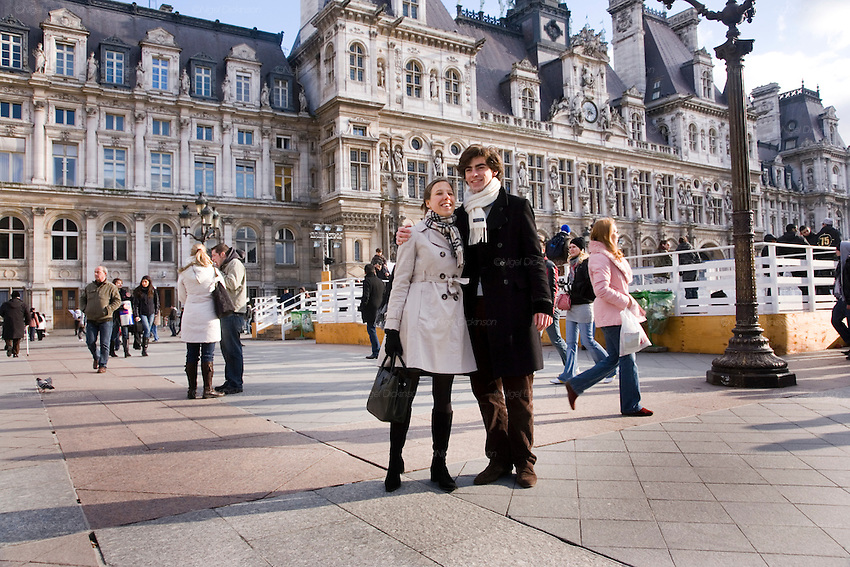 Valentines Day Kissing At The Paris Townhall Inspired By And In Hommage To Robert