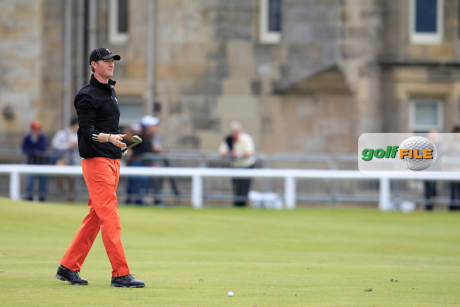 \Jordan Niebrugge (USA) (a)\ during the final round on Monday of the 144th Open Championship, St Andrews Old Course, St Andrews, Fife, Scotland. 20/07/2015.<br /> Picture: Golffile | Fran Caffrey<br /> <br /> <br /> All photo usage must carry mandatory copyright credit (&copy; Golffile | Fran Caffrey)