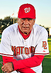 28 February 2010: Washington Nationals Senior Advisor in Player Development and Spring Instructor Pat Corrales poses for his Spring Training photo at Space Coast Stadium in Viera, Florida. Mandatory Credit: Ed Wolfstein Photo