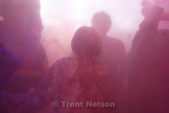 Holi Festival of Colors at Hare Krishna temple in Spanish Fork, Utah, Sunday, March 27, 2011. Nathaniel Nelson