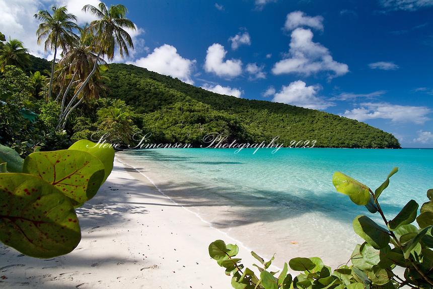 Maho Bay, St John.Virgin Islands National Park.US Virgin Islands
