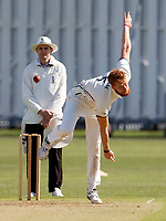 Ivan Thomas bowls for Kent during the friendly game between Kent CCC and Surrey at the St Lawrence Ground, Canterbury, on Thursday Apr 5, 2018