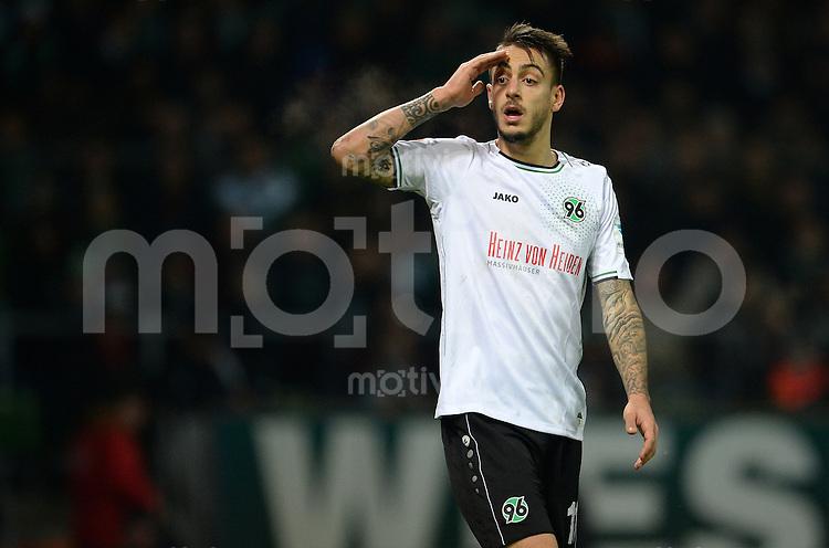 FUSSBALL   1. BUNDESLIGA   SAISON 2014/2015   15. SPIELTAG SV Werder Bremen - Hannover 96                         13.12.2014 Joselu (Hannover 96)