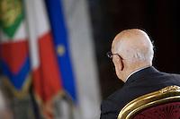 Giorgio Napolitano<br /> Roma 28-11-2014 Quirinale. Incontro 'L'Europa della cultura'.<br /> Meeting Europe of culture at Quirinale<br /> Photo Samantha Zucchi Insidefoto