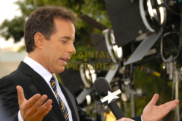 """JERRY SEINFELD .""""Bee Movie"""" Los Angeles Premiere at Mann's Village Theatre, Westwood, California, USA..October 28th, 2007.headshot portrait seinfield profile hands funny looking down .CAP/ADM/BP.©Byron Purvis/AdMedia/Capital Pictures."""