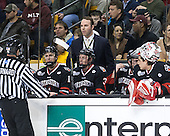 Bob Bernard, Patrick Foley (NU - Assistant Coach) - The Boston College Eagles defeated the Northeastern University Huskies 6-3 for their fourth consecutive Beanpot championship on Monday, February 11, 2013, at TD Garden in Boston, Massachusetts.