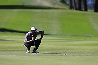 Romain Wattel (FRA) on the 13th green during Sunday's Final Round 4 of the 2018 Omega European Masters, held at the Golf Club Crans-Sur-Sierre, Crans Montana, Switzerland. 9th September 2018.<br /> Picture: Eoin Clarke | Golffile<br /> <br /> <br /> All photos usage must carry mandatory copyright credit (&copy; Golffile | Eoin Clarke)