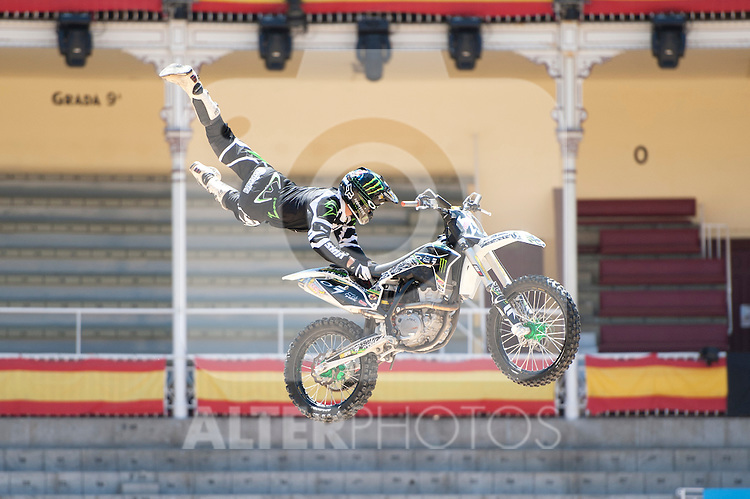 Training Red Bull X-Fighters 2012. Madrid. Rider In the picture Blake Williams AUS. July 19, 2012. (ALTERPHOTOS/Ricky Blanco)