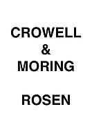 Crowell & Moring Rosen