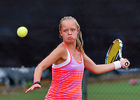 Netherlands, Rotterdam August 05, 2015, Tennis,  National Junior Championships, NJK, TV Victoria, Margriet Timmermans<br /> Photo: Tennisimages/Henk Koster