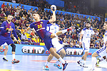 Yanis Lenne, 4th October 2017, Palau Blaugrana, Barcelona, Spain; EHF Mens Champions League Group Phase, handball. FC Barcelona Lassa v CRO HC Prvo Plinarski Drustvo