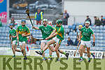 Padraig Boyle Ballyduff in action against Liam Mullins Lixnaw in the Senior County Hurling Final in Austin Stack Park on Sunday