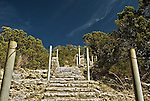 Stairway up the side of Mt Baldy in Wimberly Texas