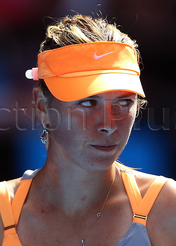 21 01 2011   Melbourne Jan 21 2011 Xinhua Mary Sharapova of Russia reacts during The Third Round Match of Women s