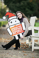 "NO REPRO FEE. 18/11/2010. Meteor Christmas text appeal. Actress and Barnardos Ambassador Sarah Bolger is pictured in the grounds of IMMA to launch the Meteor Christmas text appeal to raise urgently needed funds for Barnardos this Christmas. Meteor customers can donate EUR2 with every cent going to the charity, by simply texting ""Barnardos"" tp 57502. Picture James Horan/Collins Photos"