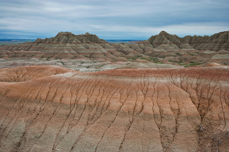 Badland formations near Bigfoot Pass; Badlands National Park, SD