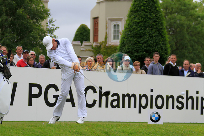 Jeppe Huldahl (DEN) tees off on the 1st tee to start his round on Day 2 of the BMW PGA Championship Championship at, Wentworth Club, Surrey, England, 27th May 2011. (Photo Eoin Clarke/Golffile 2011)