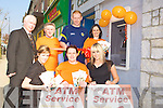 Kerry footballer Seamus Scanlon cuts the tape to officially open the new Castleisland Credit Union ATM on Main Street Castleisland on Friday front row l-r: Denise Lynch, Orla O'Shea, Sophie Casey. Back row: Fintan Ryan Manager, Derry Fleming, Seamus Scanlon and Suzanne Ennis