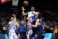 GRONINGEN - Basketbal, Donar - Landstede Zwolle, Halve finale Beker, seizoen 2019-2020, 13-02-2020,  Donar speler Donte Thomas en Donar speler Matt McCarthy in duel onder de basket