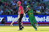 10th February 2019, Melbourne Cricket Ground, Melbourne, Australia; Australian Big Bash Cricket, Melbourne Stars versus Sydney Sixers;  Peter Handscomb of the Melbourne Stars celebrates the stumping of Jordan Silk of the Sydney Sixers