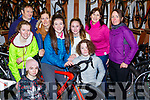 Killarney Cycling club cyclist at their awards  ceremony in O'Sullivan Bike shop on Saturday l-r: David O'Sullivan, Faith Hilliard, Alanna Drennan, Lisa Stapelbroek, Tara Kissane, Ailbhe Kissane, Ava Power, Pauline Russell, Emma Walsh