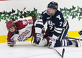 Jake Horton (Harvard - 91), Matt Killian (Yale - 7) - The visiting Yale University Bulldogs defeated the Harvard University Crimson 2-1 (EN) on Saturday, November 15, 2014, at Bright-Landry Hockey Center in Cambridge, Massachusetts.