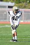 Torrance, CA 10/06/11 - Beau Onoyue (Peninsula #42) in action during the Peninsula vs South Torrance Frosh football game.