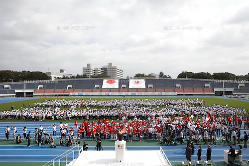 General view, OCTOBER 11, 2014 : Memorial event of 1964 Tokyo Olympic and Paralympic 50 years memorial week is held at Komazawa athletics stadium, Tokyo, Japan. (Photo by AFLO SPORT) [1180]