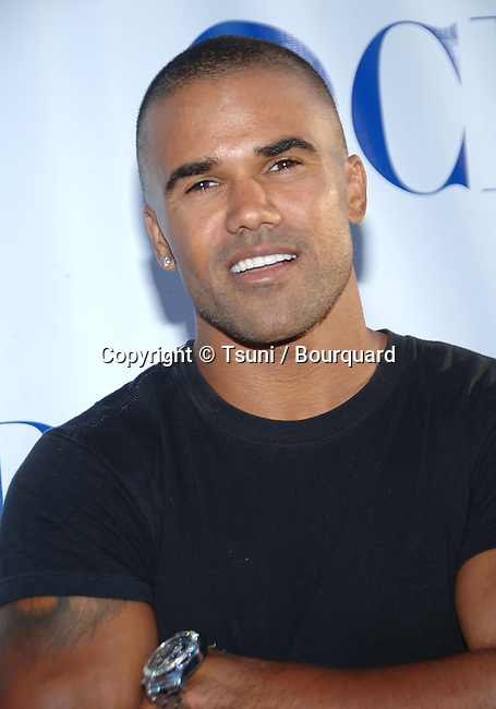Shemar Moore  arriving at the tca ( television critic association ) CBS Summer party on the Wadsworth Theatre Great Lawn in Los Angeles.<br /> <br /> headshot<br /> eye contact<br /> smile
