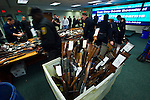 New Jersey, United States. 19th Feb, 2013 -- At least 1.700 weapons are displayed for the media after being acquired during the Gun Buyback program during the last weekend in the Essex county in New Jersey. Photo by Eduardo Munoz Alvarez / VIEWpress.