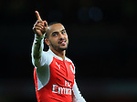 Arsenal's Theo Walcott celebrates at the final whistle<br /> <br /> Barclays Premier League- Arsenal vs Manchester City - Emirates Stadium - England - 21st December 2015 - Picture David Klein/Sportimage