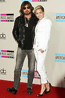 LOS ANGELES, CA - NOVEMBER 24: Billy Ray Cyrus, Miley Cyrus arriving at the 2013 American Music Awards held at Nokia Theatre L.A. Live on November 24, 2013 in Los Angeles, California. (Photo by Celebrity Monitor)
