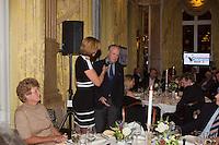 16-12-13, Netherlands, Amsterdam, Amstel Hotel, Tennisser van het jaar, Speaker Marcella Mesker interviewing Tom Okker left Betty Stove <br /> Photo: Henk Koster