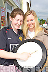 Mary Anne Vaughan and Maria Kavanagh Killarney at the World Bodhra?n festival in Milltown on Saturday .   Copyright Kerry's Eye 2008