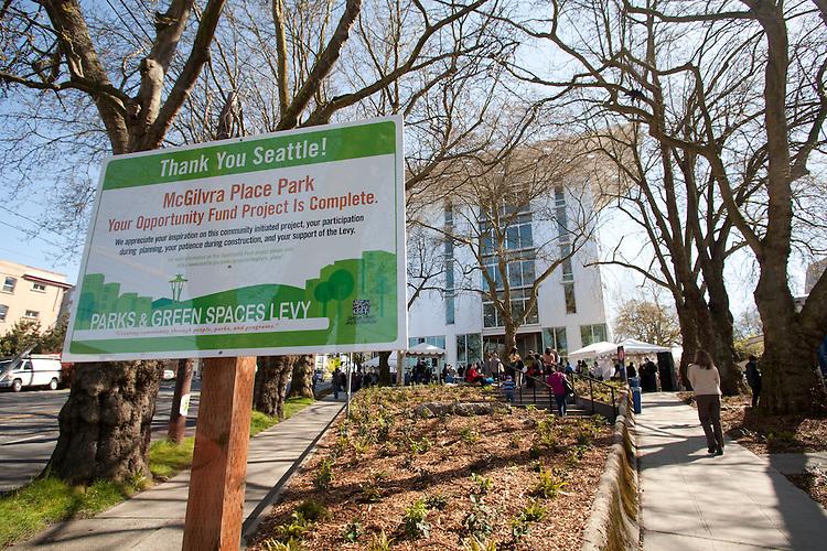 Seattle, McGilvra Place Park, The Bullitt Center, greenest office building in world, The Bullitt Foundation, Capitol Hill neighborhood, Pacific Northwest, Washington State, USA,