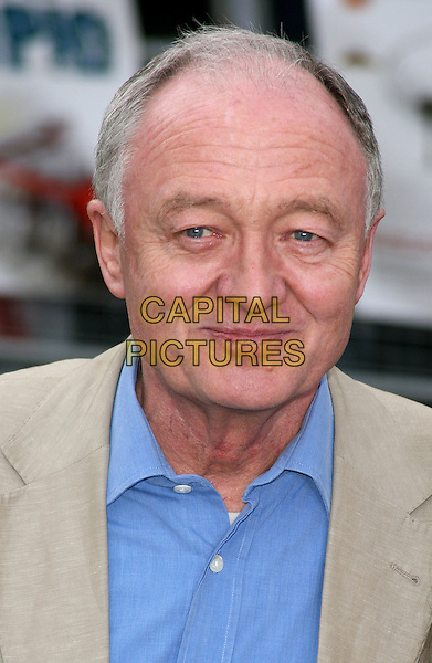 """KEN LIVINGSTONE .UK Premiere of """"The Age of Stupid"""" held in a Solar Powered Tent in Leicester Square, London, England..March 15th, 2009.headshot portrait beige blue shirt collar .CAP/JIL.©Jill Mayhew/Capital Pictures"""