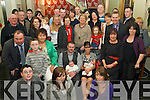 Double Celebrations -Sean & Marie Cunningham from Abbeydorney, seated centre having a wonderful time with family and friends at the Christening celebrations for their twin sons Jamie & Nathan in The Ballyroe Heights Hotel following the ceremony in St Bernard's Church, Abbeydorney on Saturday...................................................................................................................................... ............